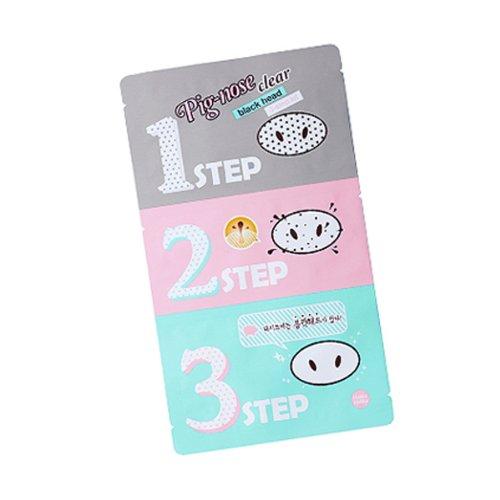 Holika Holika® - Pig Nose - Limpiador de puntos negros, Paquete de 3pasos, cuidado facial