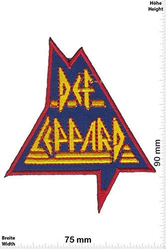Def Leppard - Blue Hard-Rock-Band Aufnäher Besticktes Patch zum Aufbügeln Applique Souvenir Zubehör -