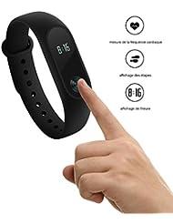 Mi Band 2 Original Nouvelle Version --- Xiaomi bracelet intelligent avec capteur de fréquence cardiaque IP67