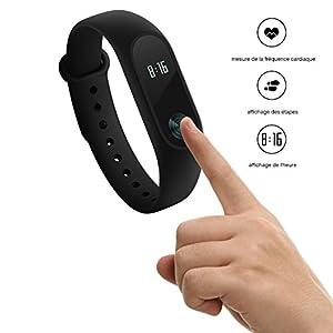 Mi Band 2 RIVERSONG® Nouvelle Version --- Xiaomi bracelet intelligent avec capteur de fréquence cardiaque IP67