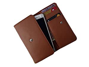 ATV PU Leather BURGUNDY Pouch Case Flip Cover For OnePlus X