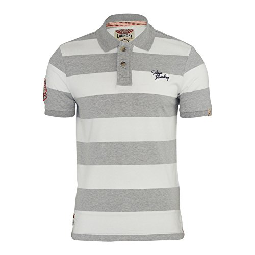 Tokyo Laudry Herren Poloshirt Grey | White