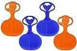 com-four® Schneeflitzer, Schneerutscher Schlitten mit Griff, Porutscher in verschiedenen Farben