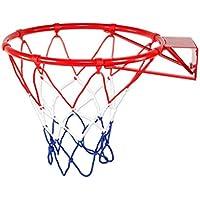 SJHSAIU 32cm aro de Baloncesto, montado en la Pared del Soporte del Baloncesto, Tiro al Aire Libre del Marco, Anillo de Baloncesto de Inicio, Reforzar el aro de Baloncesto, de instalación rápida