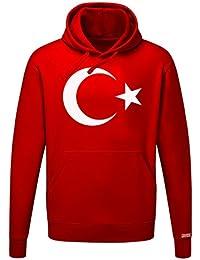 Türkei Mond und Stern - Türkiye - Herren Hoodie Kapuzenpullover
