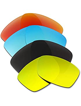 Hkuco Plus Mens Replacement Lenses For Oakley Jupiter Squared Red/Blue/Black/24K Gold Sunglasses