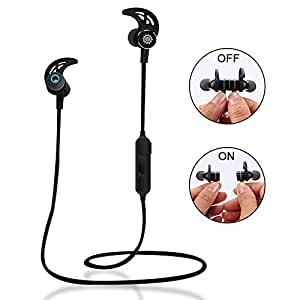 Auricolari Wirless Bluetooth Sportivi Cuffie Bluetooth Magnetiche Stereo per Running con Microfono In Ear per Sport