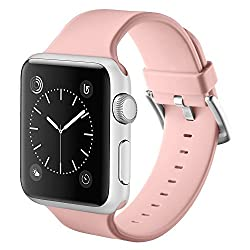 Vandarui For Apple Sports Watch Band,silicone Bracelet Strap Wristband Replacement Band For Apple Watch Series 1,apple Watch Series 2,apple Watch Series 3 (38mm, Pink)