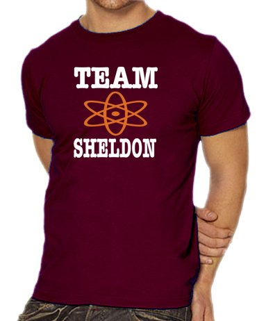 touchlines-t-shirt-pour-homme-the-big-bang-theory-team-sheldon-rouge-burgundy-m