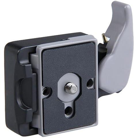 Vktech-Rótula con Trípode de Adaptador Plato de liberación rápida para cámara con plataforma Manfrotto 200PL-14