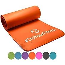 Esterilla para fitness »Yogini« / gruesa y suave, perfecta para pilates, gimnasia y yoga / Medidas: 183 x 61 x 1 cm / naranja