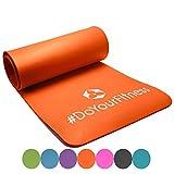 #DoYourFitness Fitnessmatte Yogini ideal für Pilates Gymnastik und Yoga Maße: 183 x 61 x 1.0 cm orange, 122566219