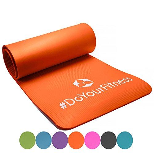 Matelas de fitness Sharma / épais et souple, idéal pour le pilates, la gymnastique et le yoga, dimensions : 183 x 61 x 0,8cm / orange