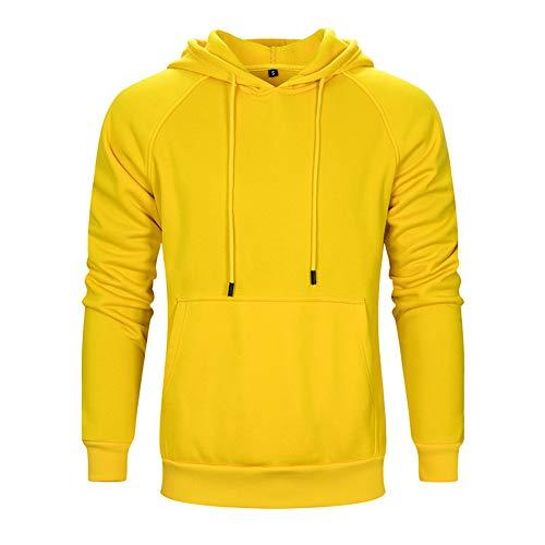 Herren Pullover Fleece Sweatshirt Camouflage Hoodies (Gelb, Größe L) Camouflage-fleece-pullover