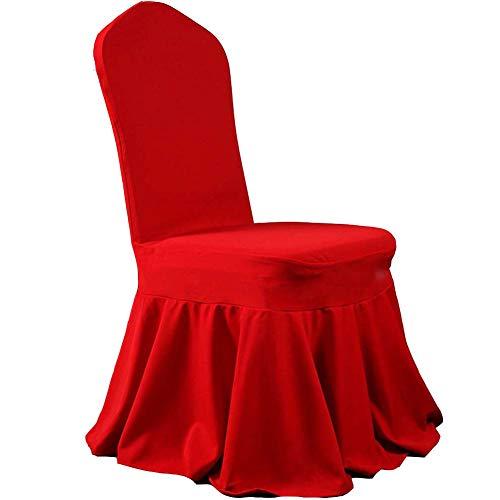 Comfortable Home Red Lycra Spandex Stretch Stuhlhussen, Schöne Rock Leicht Zu Reinigen Event Dining Bankett Dekoration 100 Stücke - Leichtes Spandex-rock