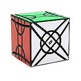 El Cubo Creativo de los niños Cubo mágico del Rompecabezas del Juguete Forma extraña Cubo Torcido,Black