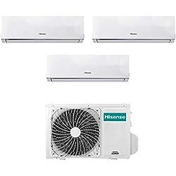 Condizionatore Climatizzatore Trial Split Inverter Hisense New Comfort 7000+7000+7000 7+7+7 Btu A++ 3AMW58U4SZD1