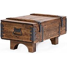 Coffre de Voyage en bois ancien Table Basse de Campagne hauteur 39 cm,  profondeur 51 ff39192e5b06