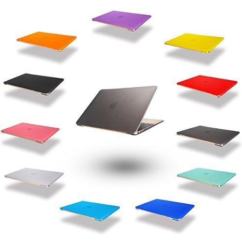 Elegantes und leichtes Cover Ultra Dünn Schutz Hülle Case Cover Schutzabdeckung Hardcase Notebook Hülle Hartschale Etui für Apple Macbook Air 11.6 Zoll(Modellnummer:A1370/A1465) in grau (Air 11 Macbook Refurbished)