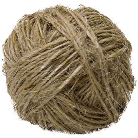 Nuovo LNHF grande commercio all'ingrosso 1 millimetro fino ritorto iuta stringa Trim per Rustic Wedding (Commercio All'ingrosso 5 Stringhe)