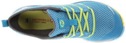 Merrell ROAD GLOVE DASH 3, Chaussures de running entrainement femme Bleu - Blau (HORIZON BLUE/HIGH VIZ)
