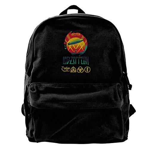NJIASGFUI Led Zeppelin Rucksack aus Segeltuch für den Feiertag für Fitness, Wandern, Laptop, Schultertasche für Männer und Frauen -