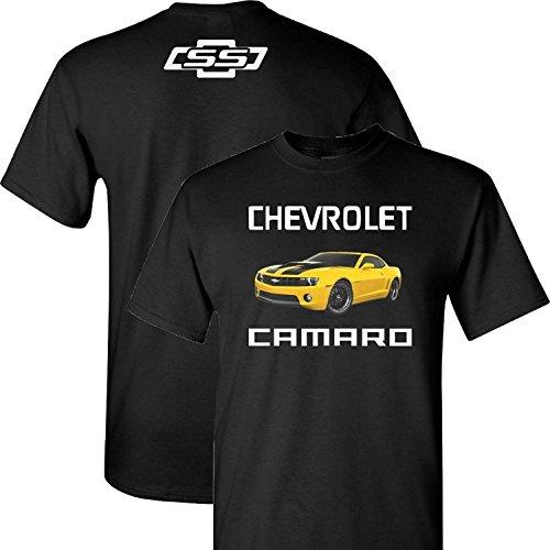 ss-chevy-chevrolet-yellow-camaro-on-a-black-t-shirt