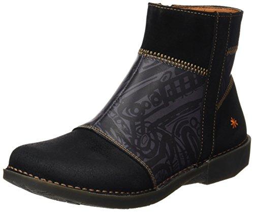 Art Damen Bergen Kurzschaft Stiefel, Schwarz (Multi Black Box), 37 EU Black Multi Suede Schuhe