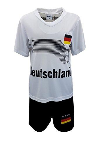 Fussball Fan Set, Deutschland Germany Trikot + Shorts, Gr. 140/146, JSn53.12e
