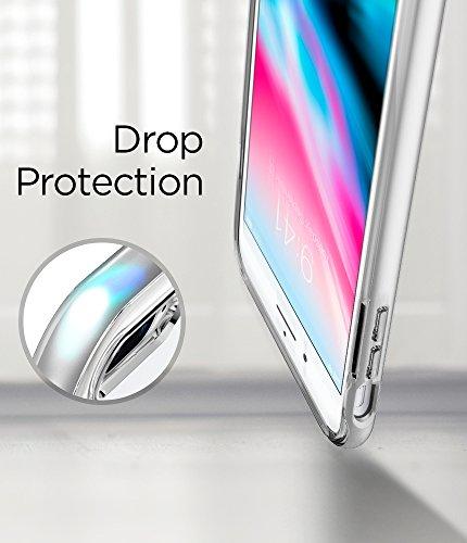 iPhone 8 PLUS / 7 PLUS Hülle, Spigen® [Neo Hybrid Crystal 2] iPhone 8 PLUS Hülle, Doppelschichter Schutz [Gunmetal] Zweite Generation des Neo Hybrid Crystal für iPhone 8 PLUS 2-teilige Premium Handyhü NHC2 Satin Silber
