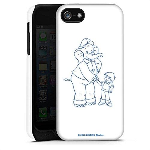 Apple iPhone X Silikon Hülle Case Schutzhülle Benjamin Blümchen Fanartikel Merchandise Der sprechende Elefan Tough Case matt