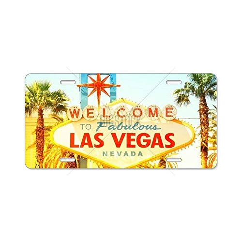 BNHF CafePress - Las Vegas Sign. Welcome to Aluminum License Plate - Aluminum License Plate, Front License Plate, Vanity Tag -