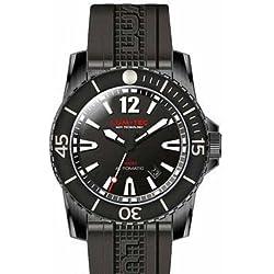 Lum-Tec LT300M-2XL Mens Schwarzes Edelstahl-Band 300M Diver XL Automatische Uhr