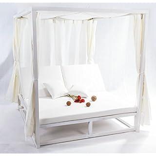 Bed balinesa Curtains White Aluminium