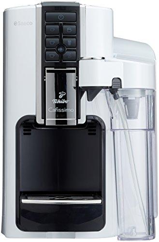 Tchibo Saeco Cafissimo Latte Kapselmaschine (für Kaffee, Espresso,Caffé Crema,Latte Macchiato,Cappuccino oder Tee), weiß