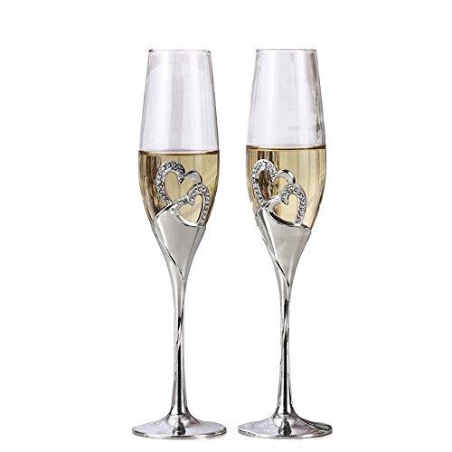 1 Set (2-teilig) Kreative Hochwertige Weingläser, Gläser Mit Fuß, Romatische Sektgläser Geschenk Haus Deko (Sektglas 1#)