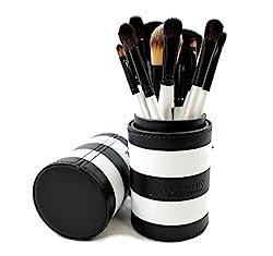 Morphe 12 Piece Black and White Travel Brush Set - Set 706