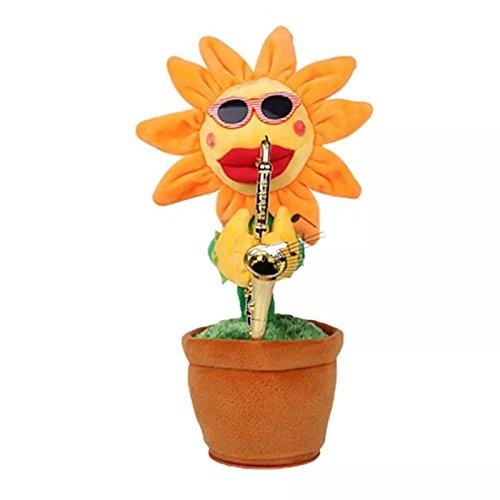 eschenk Dancing Sonnenblumen Funny Elektrische Musical Spielzeug Stress Relief Spielzeug Geburtstag Geschenke gelb (Halloween Neuheit Spielzeug Bulk)