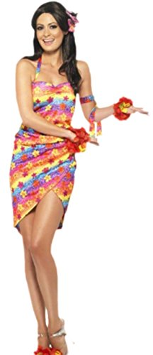 Confettery - Erwachsene Hawaii Strand Fasching Outfit, S, ()