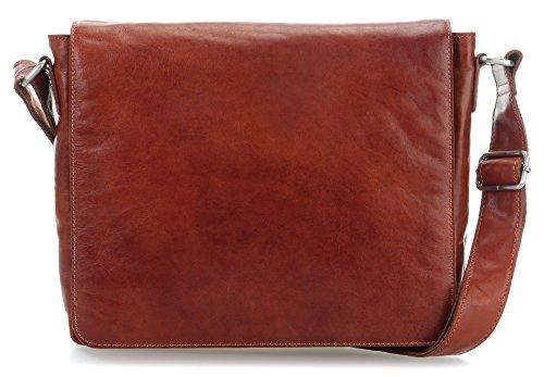 Leonhard Heyden Cambridge Messenger Bag Umhängetasche 32 cm Cognac -