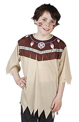 erdbeerloft - Jungen Indianer Shirt mit Fransensaum , Array, Braun
