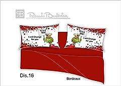 Idea Regalo - Russo Tessuti Lenzuola Completo Letto Matrimoniale RENATO BALESTRA Stampa Digitale Love Amore-Dis. 16