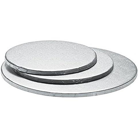 SOTTO TORTA TONDO Argento Ø 40 x 1,2 h DECORA CAKE BOARD (Design Vassoio)