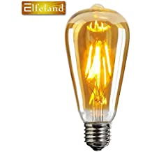 Vintage Edison LED Bombilla,Elfeland® E27 Bombilla Decorativa Antique LED Filament Lamp Reemplaza a