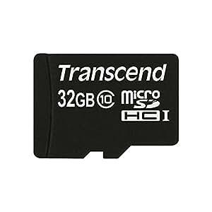 Transcend 32 Go Carte mémoire microSDHC Classe 10 TS32GUSDC10