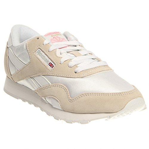 Reebok - Reebok Classic Nylon, Sneakers da uomo (Beige-Blanc)