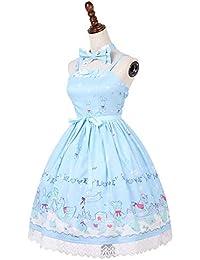 f7a15f293e34 QAQBDBCKL Originale Nuovo Arrivo Donne Carino Stile Sky Blue Navy Sweet  Lolita Vestito Bunny Stampa Digitale