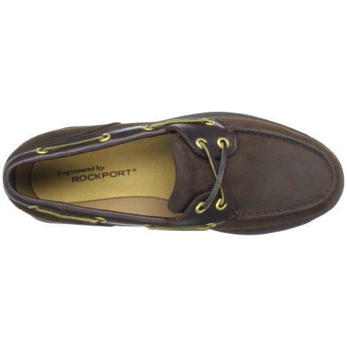 Rockport Mens Ports of Call Perth Chocolate/Bark Boat Shoe Chocolate/Bark