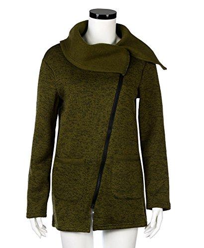 Minetom Manteaux Hiver Femme Grande Taille Veste À Capuche Manteau Longue Jumper Sweatshirt Chemisiers Outwear Hoodie Sport Vert
