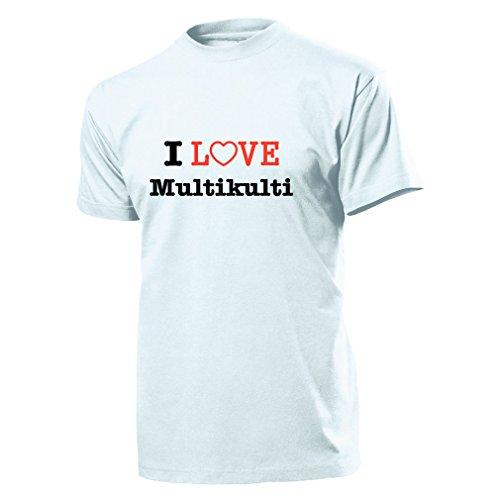 I Love Multikulti - T Shirt Herren weiß #899